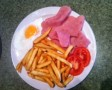 ham egg and chips